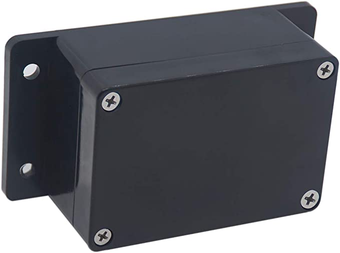 115 x 90 x55 mm Raculety Project Box IP65 Waterproof Junction Box ABS Plastic Black Electrical Boxes DIY Electronic Project Case Power Enclosure with Fixed Ear 4.53 x 3.54 x 2.17 inch