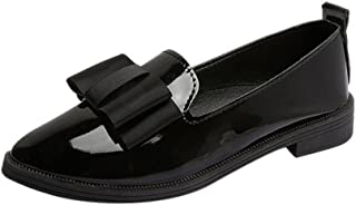 Femme Chaussures de Ville Derbies Loafers Mocassins en Cuir Pas Cher,Alaso Dames Casual Mode Confort Slip on Espadrilles B...