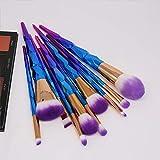 Hermosa Nuevo 10 diamante pincel de maquillaje maquillaje colorido degradado unicornio Herramientas del sistema de cepillo de belleza Para mujeres (Color : A)