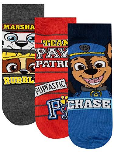 PAW PATROL Jungen Socken Packung mit 3 Paar Mehrfarbig 31/36