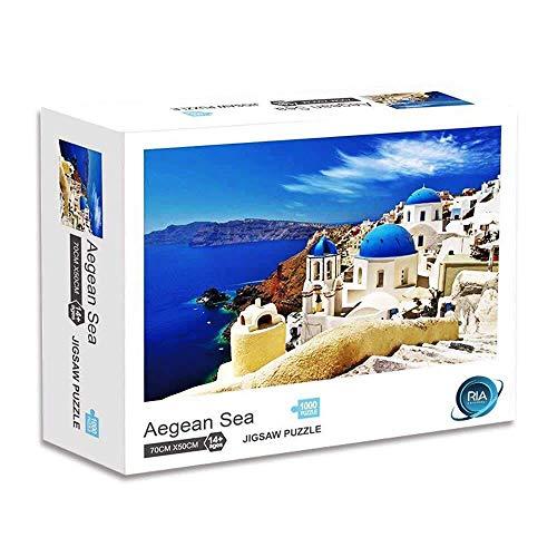 Adult Puzzle RIA Aegean Sea Jigsaw 1000 Piece Puzzles| Rompecabezas para adultos | Difficult Landscape jig Saw | Adults Kids