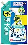 ヘルパータスケ らくハピ アルコール除菌EXワイド つめかえ 740ml