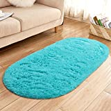 YJ.GWL Oval Fluffy Area Rugs for Bedroom and Living...