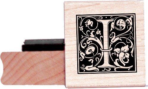 Tampon en caoutchouc alphabet - Lettre I à la William Morris