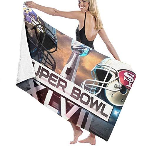 Super Bowl NFL Toalla de ducha de fibra superfina toallas de baño para adultos, multiusos, ecológicas, viajes, vacaciones, playa, regalo para niñas y mujeres, 81 x 132 cm