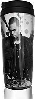 Denise K Steinbach Chris Brown Coffee Cup Travel Coffee Mug/Tea Double Wall Insulated Plastic with Cover Insulation and Leak Proof 12 Oz