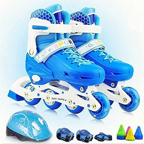 PLAYH Illuminating Inline Skates Patines De Ruedas para Niños Patines De Ruedas para Niños Patines De Ruedas para Niños Y Niñas Zapatillas Deportivas para Principiantes