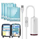 VMstr USB Elektrisch pumpe Vakuumierer für Kleidung Vakuumbeutel, 4er Pack Reise Aufbewahrungsbeutel, Platzsparende für Klein Koffer & Schrank Organisieren