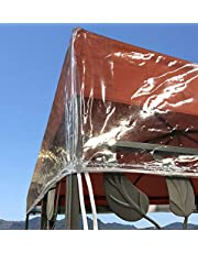 QUICK STAR Gazebo Cubierta Protectora Pavillon 3 x 3 m Impermeable Transparente Protección contra la Intemperie