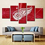 HD Print 5pcs red wings painting canvas decor art painting print canvas home decor 30x40cm 30x60cm 30x80cm Unframed