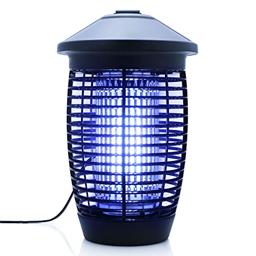 U.S. Solid Electric Bug Zapper Mosquito Killer for Indoor & Outdoor, 20W Powerful Insects Trap with 4000V High Voltage Electric Grid and 18W UV Light Bulb for Home, Office, Backyard, Patio