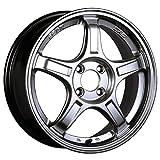 【適合車種:ホンダ N WGN(JH系 ターボ車)2013~ サマータイヤセット】 DUNLOP LEMANS V LM5 165/55R15 夏用タイヤとホイールの4本セット アルミホイール:SSR GT X03_クロームシルバー 5.0-15 4/100 (15インチ サマータイヤセット)