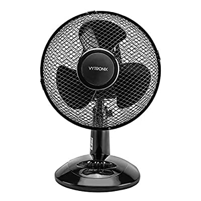 VYTRONIX Desk Fan 9 inch 23cm 20W Oscillating 2 Speed Portable Quiet Home Office Cooling