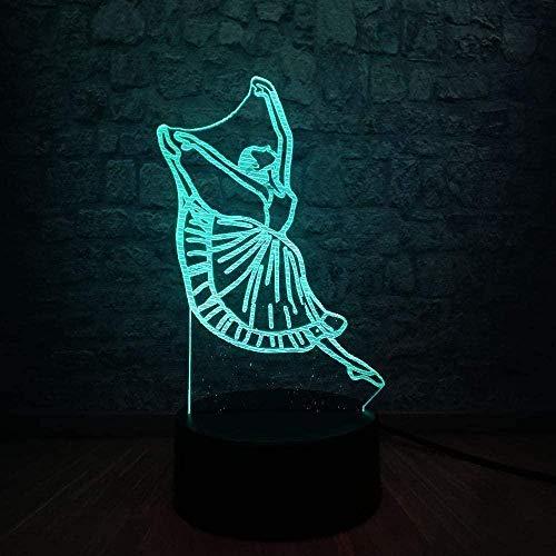 YOUPING Luces de Noche Novedad Moderna Bailarina Señora 3D Lámpara de Noche USB LED Iluminación Bailarinator Navidad Decora Amistad Linterna