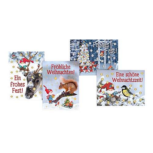 Adventskalender zum Verschicken A6-Format für Kinder Wichtelwald WWS