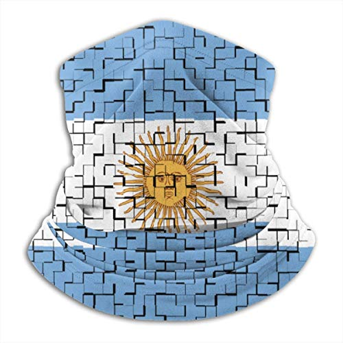 Miedhki Argentinien Flagge Puzzle Hals wärmer Schal Gamasche Gesicht Bandanas für Staub kaltes Wetter Winter im Freien Festivals Sport für Männer und Wo