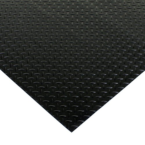 Marko Rubber Diamond Plate Matting Garage Floor Mats Checker Plate Diamond Black Van 1.5M x 1M x 3mm (1)