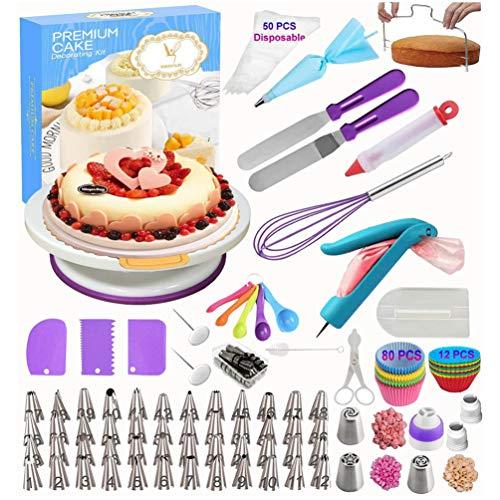 N / A Suministros de decoración de tartas, Set de decoración de...