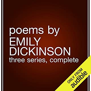 Poems by Emily Dickinson                   De :                                                                                                                                 Emily Dickinson                               Lu par :                                                                                                                                 Marianne Fraulo                      Durée : 4 h et 20 min     Pas de notations     Global 0,0