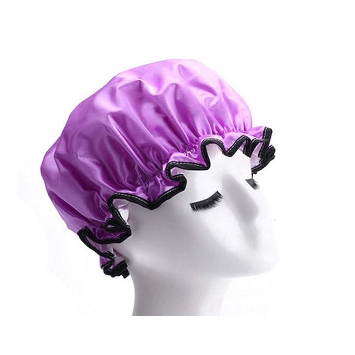 チーターキャビン証明書XFHA キャップシャワー、女性が女性のすべての髪の長さと厚さに適しキャップデラックスシャワーキャップシャワー - 耐性防水やカビ、再利用可能なシャワー。 シンプルで実用的な製品 (Color : 1)