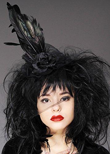 Womens Halloween Gothique Veuve Plume Bandeau
