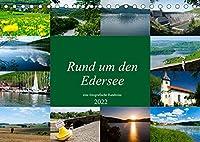 Rund um den Edersee (Tischkalender 2022 DIN A5 quer): Eine fotografische Reise rund um den Edersee bei Waldeck. (Monatskalender, 14 Seiten )
