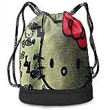 Comic Hello Kitty Drawstring Bags - Mochila multifunción, gran capacidad,...