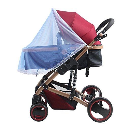 Butterme Enfant Bébé demi-couvercle Moustiquaire pour Poussette, lit pliable ,landaus, des camions, des sièges d'auto , Cradles