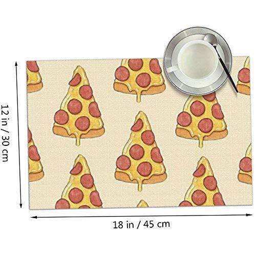 MJDIY Tovagliette,Tovaglietta per Pizza al Formaggio, Tovagliette Accattivanti per Decorazioni da Tavola,Set of 6