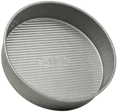 USA Pan Bakeware 1070LC  Round Cake Pan, 9 inch, Nonstick & Quick Release Coating, 9-Inch
