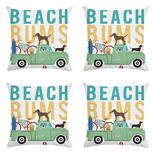 18X18 Inch Puppy Pattern Cushion Cover Pillow Cover 45X45Cm 4-Piece Set