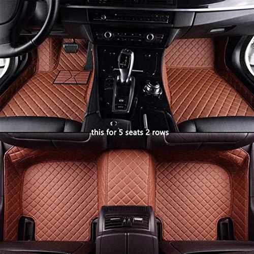 Car Floor Mats For Citroen C5 C2 C3 C4 C6 Drain C-Quatre/Triomphe Elysee Picasso Foot Custom Alfombras De Coche Accesorios Car Styling (Color : 2 Rows Brown)
