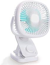 ZMXZMQ Ventilador con Clip para Escritorio, Batería Recargable/Ventilador De Escritorio Oscilante Autoalimentado por USB para Exterior/Interior Oficina De Viajes En Automóvil,White