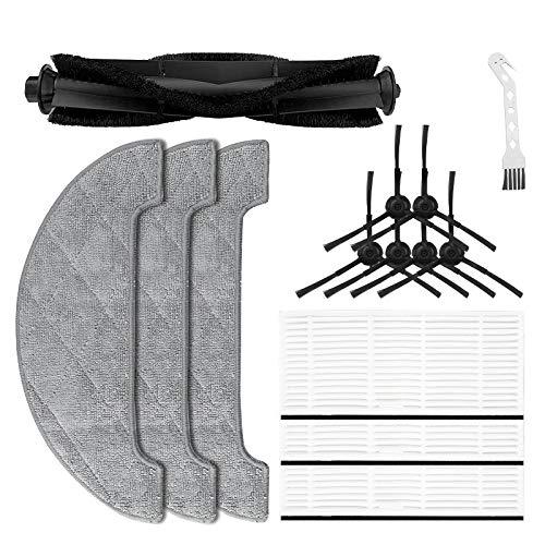 SDFIOSDOI Piezas de aspiradora Cepillo de Tela Lateral MOPS Cepillo Principal Limpieza de Pinceles Filtro FIT DE PROSCENIC M7MAX M8 Robot de Barrido Piezas de Repuesto (Color : Black White)