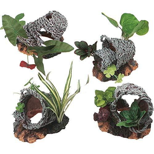 Decoratie mand met planten L
