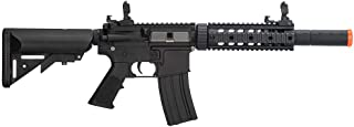 Lancer Tactical Gen 2 Polymer SD AEG Electric Automatic Airsoft Gun, Black with High FPS