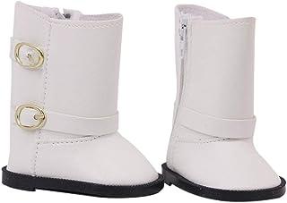 027c33d78a Baoblaze Zapatillas Botas Blancas Decoración para Muñeca Niña 18 Pulgadas de  Casa de Muñeca