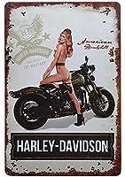 【eiwasailsors】 ハーレーダビッドソン Harley-Davidson バイク USA メタルサイン  金属 TIN SIGN お部屋 お店 壁飾り 個性 インテリア アメリカ雑貨 アメリカンブリキ看板 レトロ調  20x30cm
