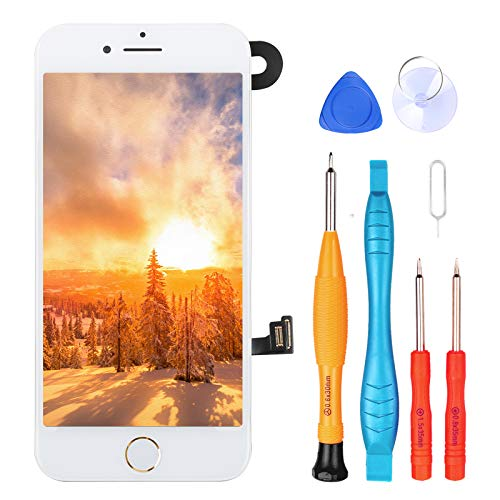 for iPhone 6s Digitizer Screen Replacement White - Ayake 4.7'' Full LCD Display Assembly with Home Button, Front Facing Camera, Earpiece Speaker Pre Assembled and Repair Tool Kits