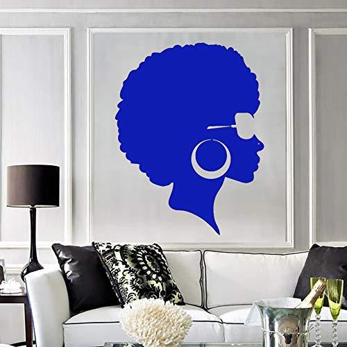 mlpnko Wasserdichtes Tapetenpapier Damenfrisuren, Wohnzimmerplakate, Wandbilder, Vinyl-Wandtattoos, abnehmbare DIY-Wandtattoos - 57 x 74 cm