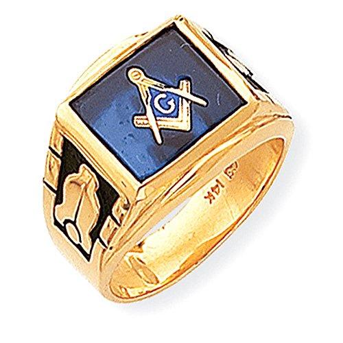 Masonic anello degli uomini 14k size 14