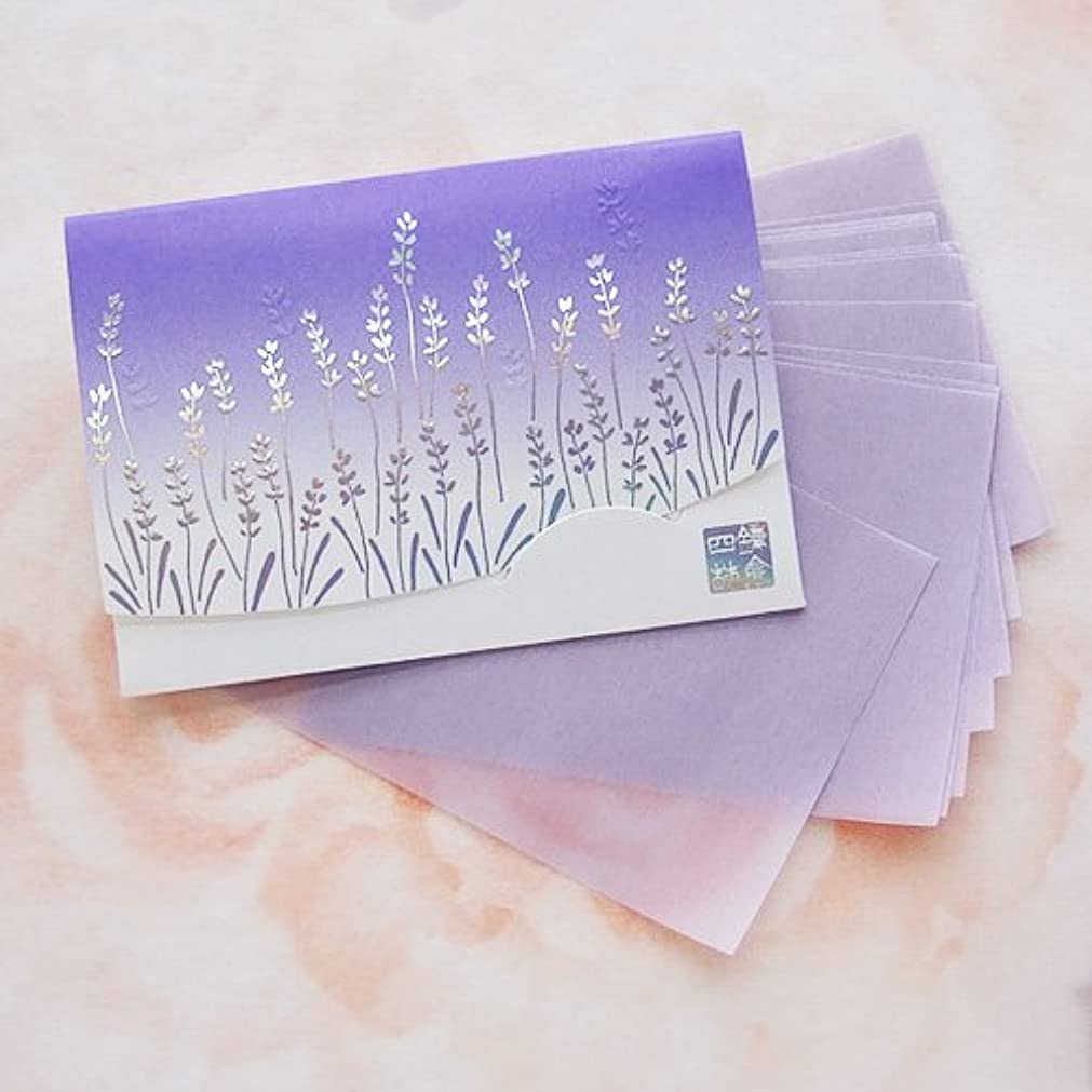 ライラック木曜日枯れる鎌倉四葩のあぶらとり紙 きらめき香りラベンダー 短冊サイズ 20枚入
