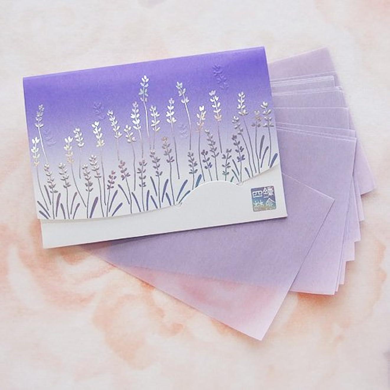 有効数トン鎌倉四葩のあぶらとり紙 きらめき香りラベンダー 短冊サイズ 20枚入