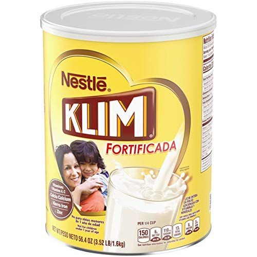 Nestle KLIM Fortificada Dry Whole Milk Powder 56.4 oz. Canister