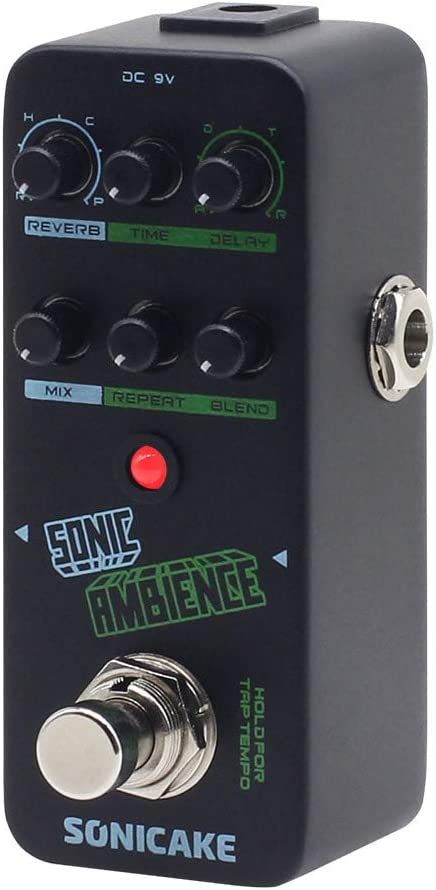 SONICAKE Sonic Ambience Multi Mode Tap Tempo Delay and Reverb Guitar Bass Effects Pedal
