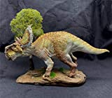 1/35 Pachyrhinosaurus Statue Ceratopsidae Dinosaur Figure Triceratops Realistic Resin Animal Model Toys Collector Decor Gift for Adult GK