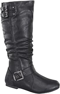 aa272c21fa7 Top Moda Night-76 Women s Slouched Under Knee High Flat Boots