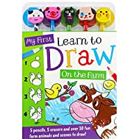 My First Learn to Draw: On the Farm 5-Pencil Set (5-Pencil Sets)