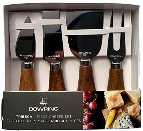 Tribeca 4 Piece Cheese Knife Set Acacia WoodStainless Steel