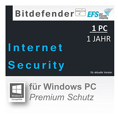 Bitdefender Internet Security 2016 1 PC 1 Jahr |OEM|PKC|EFS